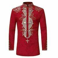 African dashiki mens casual print tribal shirt top blouse Africa clothing shirts