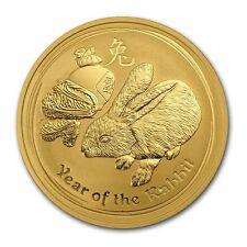 2011 Australia 1 oz Gold Lunar Rabbit BU (Series II) - SKU #59023