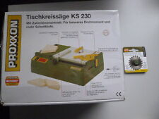 Proxxon Set Tischkreissäge KS 230 Nr. 27006+28017 Hartmetallbestücktes Sägeblatt