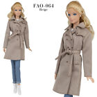 FAO-064 jeans beige trench T-shirt outfit for Barbie MTM and similar 12''dolls