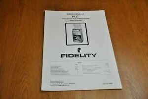 Fidelity IS 27 Stereo Music System Part no 44703 Genuine Service Manual