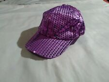 pink purple sequin shiny hat baseball cap velcro