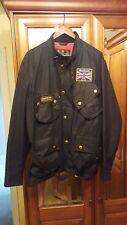 Mens Barbour International Union Jack black waxed jacket size XXL