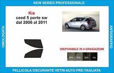 pellicole oscuranti vetri kia ceed sw dal 2006-2011 kit anteriore