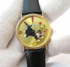 "TWEETY & SYLVESTER,""RARE Animated Beach Dial"" N-MINT,MENS KIDS WATCH,455"