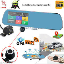 Android Dual Lens 5''HD 1080P Wifi Car DVR GPS Navigation Rearview Mirror Camera
