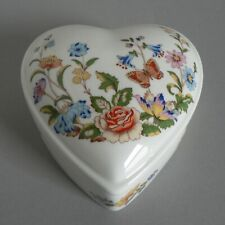 AYNSLEY COTTAGE GARDEN HEART SHAPED LIDDED TRINKET BOX VALENTINES DAY PRESENT A1