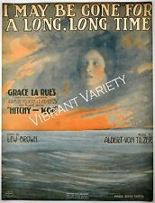 I May Be Gone For A Long, Long Time Art By Andre De Takacs 1917 sheet music