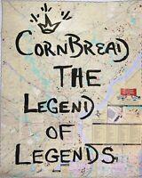 CORNBREAD  Original Painting Signed TRANSIT MAP seen taki 183 cope2 jonone crash