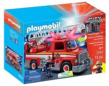 PLAYMOBIL 5682 Tow Rescur Ladder Fire Truck Action Ages 4+ New Toy Boys Girls