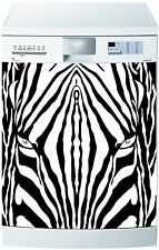 Sticker lave vaisselle déco cuisine électroménager Effet Zébré 710 60x60cm