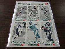 Phila. Eagles---1993 McDonalds---Gameday Complete Set---Uncut Sheets A-B-C