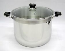 16 Qt Quart Stainless Steel Encapsulated Tri-Ply Clad Stock Pot Heavy Duty