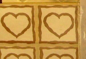 100 GOLD HEART Envelope seals/stickers Wedding Invitation Paper craft Scrapbook