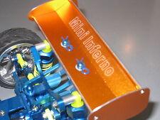 Kyosho Mini Inferno Alloy Rear Wing Alu Spoiler silver lining Kanten