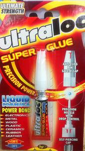 *** ULTRALOC SUPER GLUE LIQUID FORMULA 3G BARGAIN ***