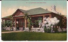 California Log Cabin Home  California CA Postcard San Francisco Edward Mitchell