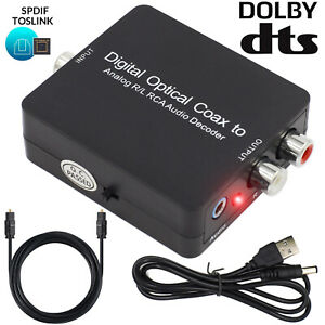 Digital Dolby DTS AC3 Audio Decoder Optical Coaxial To Analog RCA Jack Converter