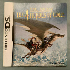 FINAL FANTASY: THE 4 HEROES OF LIGHT - Nintendo DS Video Game Manual ONLY - RARE
