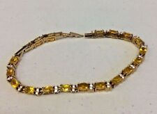 Vintage Signed Avon Tennis Bracelet w/ Rhinestones (A1)