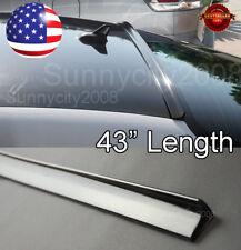 "43"" Semi Gloss Black Rear Diffuser Window Roof Trunk Spoiler Lip For  Chevy"