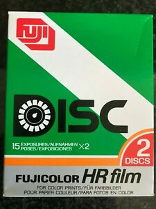 Fuji HR FILM Disk expired film box with 2 disk