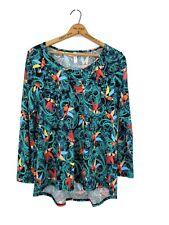 New Lularoe Lynnae Top Womens 2XL Plus Long Sleeve Birds Paisley