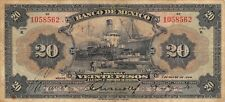 México  20  Pesos  7.3.1934  M 4617g  Series  H  Circulated Banknote MX12