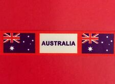 AUSTRALIA Aussie Flag Grosgrain Ribbon 1 Metre X 22mm - Craft Hair Cakes
