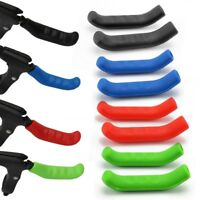 2 Pcs Brake Handle Silicone Sleeve Mountain Bike Brake Lever Protection Cover US
