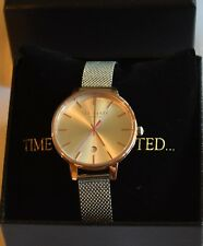 *25% DISCOUNT! NIB Ted Baker 'Kate' 18K rose gold plated/stainless steel watch