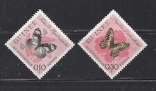 GUINEA - 291-292, 294-304- MH - 1963 - BUTTERFLIES