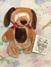GANZ WEE VILLAGE STUFFED PLUSH WHITE BEAR IN BROWN PUPPY DOG SUIT DISGUISE MWT