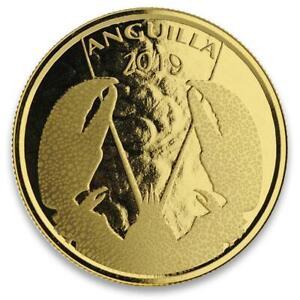 2019 1oz Anguilla Lobster .9999 Gold Coin BU in Certi-Lock #A476