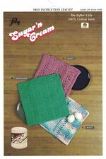 Lily Dishcloths to Knit & Crochet, BabyCloth to Knit using Sugar'n Spice 4 Ply