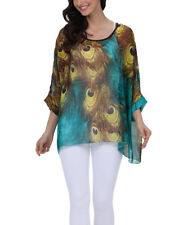 Bohemian Blouse Batwing Sleeve Chiffon Cover Up Kaftan Poncho Blouse Tunic Tops