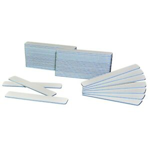 50 Pcs JUMBO White Nail Files 60/60 Grit, White Nail File Acrylic Nails (Blue)