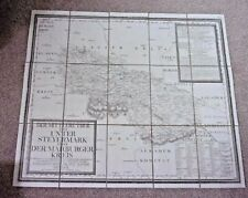 Antique 1792 Map of The Central Part of Lower Styria  (Austria) Graz. Linen Map