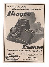 Pubblicità 1933 EXAKTA IHAGEE DRESDEN FOTO PHOTO advertising werbung publicitè