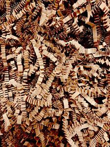 SHREDDED CRINKLE CUT Paper 1 KG ZIG ZAG Brown Kraft Gift Hamper Shred Packaging