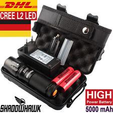 DE 8000lm echte Shadowhawk X800 Polizei Taschenlampe Cree L2 LED Zoomable Fackel