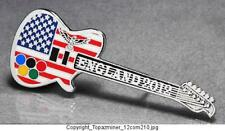 OLYMPIC PINS BADGE 2012 LONDON ENGLAND UK PATRIOTIC USA FLAG GUITAR+EAGLE(S)