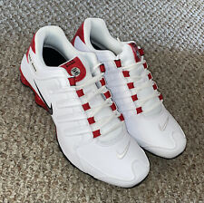 New Nike Shox NZ Men Size 12 Shoes White/Red/Black 378341 110