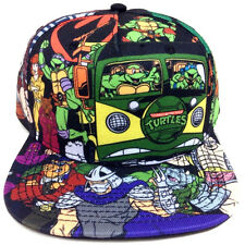 TEENAGE MUTANT NINJA TURTLES ALL OVER PRINT SNAPBACK HAT CAP CARTOON TMNT LOGO