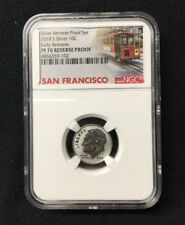 2018 S Silver REVERSE Proof SET Roosevelt Dime 10c NGC PF70 Early Releases