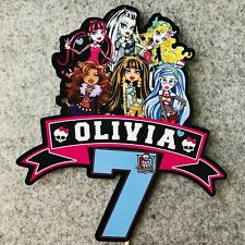 Monster High PERSONALISED Cake Topper.  Lolly Loot Bag Party Supplies Bunting