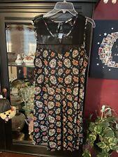 Hot Topic Day of The Dead Dress Sugar Skull Skater Dress, Mesh Large L
