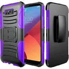 For Samsung Galaxy S8 Active Combo Holster KICKSTAND Rubber Cover +Screen Guard