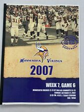 2007 DALLAS COWBOYS NFL FOOTBALL PROGRAM VS MINNESOTA VIKINGS GAME GUIDE MEDIA