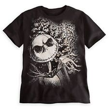Disney - Jack Skellington Tee for Men - Black - Size Large - NEW